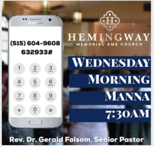 Morning Manner Prayer & Devotion @ Hemingway Memorial AME in District Heights | District Heights | Maryland | United States