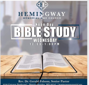 Noon Day Bible Study @ Hemingway Memorial AME in District Heights | District Heights | Maryland | United States